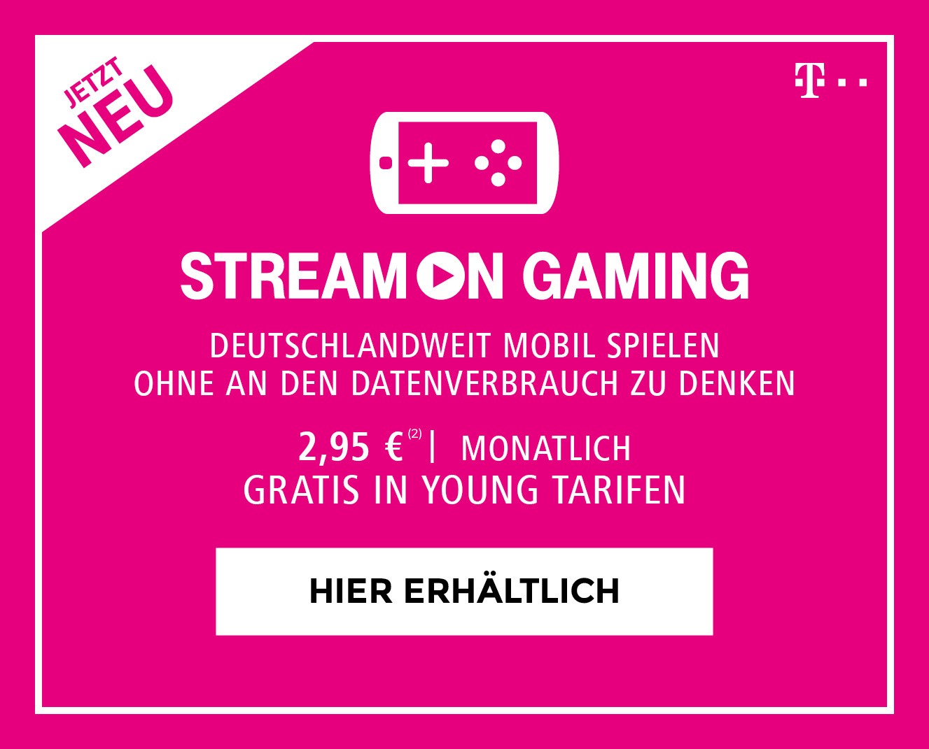 Telekom StreamOn Gaming